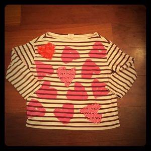 JCrew Crewcuts Sequin Heart Tshirt Heart ❤️